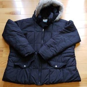 Columbia women's 2X black coat jacket winter warm